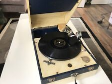 Vintage Decca 66 Gramophone, Works Beautifully, Very Stylish Blue And White Case