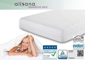 Allsana Matratzen-Topper-Bezug 180x200x8cm Milben-Encasing für Allergiker