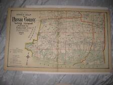 ANTIQUE 1914 NASSAU COUNTY NEW YORK MAP INWOOD LAWRENCE HEMPSTEAD HEMPSTEAD NR