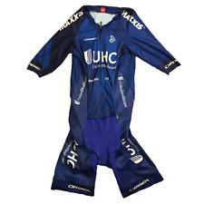 Men's 2018 Jakroo UHC Pro Cycling Echelon SS Pocketed Skinsuit, Blue, Sz. M EUC