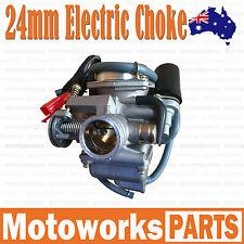 Electric Choke 24mm Carby Carburetor GY6 125cc 150cc Quad Dirt Bike ATV Buggy 1