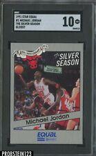 1991 Star Equal Glossy The Silver Season #1 Michael Jordan HOF SGC 10 GEM MINT