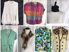 Huge Vintage 70s Lot 7 Womens Medium Inc. College Town Top Scarf Poncho Sweater