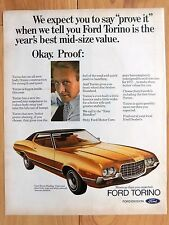 1972 FORD GRAN TORINO LARGE COLOR MAGAZINE AD  13 x 10 1/2