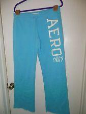 Super Cute Aeropostale Sweatpants Women's Turquoise WIDE LEG Size L!