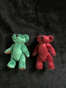 """Red And Green Miniature Bears 3"""""""