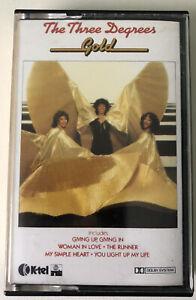 THE THREE DEGREES - GOLD - CASSETTE TAPE ALBUM 1980 - K-TEL MY SIMPLE HEART ETC