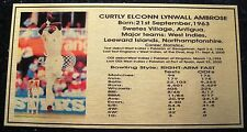 CURTLY AMBROSE Gold Plaque picture and stats new 150x80mm
