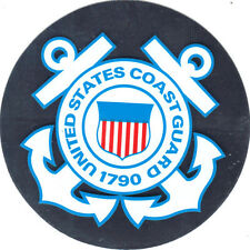 US COAST GUARD 3 INCH STICKER - SILVER - MADE IN THE USA!!