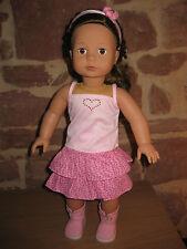 a 1689 2 PEZZI BAMBOLE ABITI PIANTANA BAMBOLA 46-50 cm bambola, senza BAMBOLA