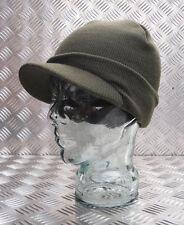 VERT BONNET / pic chapeau / Casquette - serré TRICOT / tissé NEUF