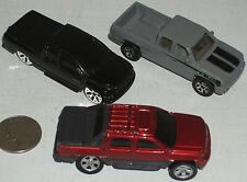 "Pickup 3pc Group #36 Dodge & 2 Chevy Trucks 3"" USED -SEE PHOTO"