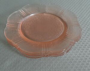 """Pink Depression Glass 8"""" Plates American Sweetheart  - Set of 4"""