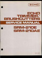 Orig Factory Echo SRM 210E 210AE Trimmer Brushcutter Service Repair Manual
