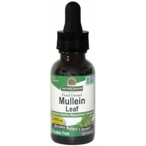 Nature's Answer Mullein Leaf 1800mg Herbal Liquid Extract 30ml Verbascum Thapsus