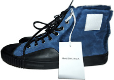 BALENCIAGA Shearling Fur-Lined Suede High Top Sneaker Shoe 42- 11 Ankle Bootie
