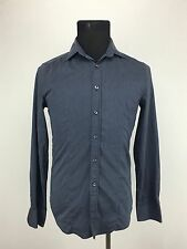 United Colors of Benetton Long Sleeve Button Up Mens Medium - Blue / Gray Stripe