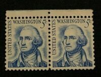 George Washington 5 Cent Stamp  #1283 US Prominent Americans Series