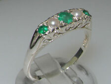 Unbranded Emerald Natural White Gold Fine Gemstone Rings