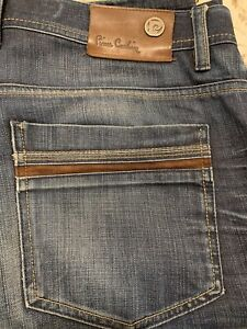 Authentic Label Pierre Cardin Men's Jeans With Suede Accent Pockets