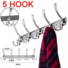 15 Hooks Coat Clothes Door Holder Rack Hook Wall Mounted Hanger Stainless Steel