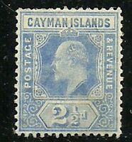 Album Treasures Cayman Islands Scott # 23  2 1/2p Edward VII Mint LIGHTLY Hinged