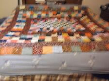 b. Beautiful Vintage Quilt  Pieced Front Blanket  Back  About 70 x 84 Inches