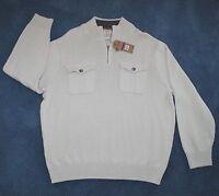 NWT - Dockers Heavyweight tan zip-neck 100% cotton sweater (XXL) $60