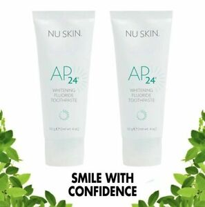 2X Tubes Nu Skin NuSkin Authentic AP-24 Whitening Fluoride Toothpaste Feb 2023