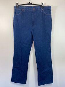Wrangler Mens Blue Denim Jeans Straight Leg Size W40 L34 - Free Shipping