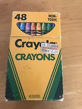 Vintage Crayola Crayons 48 Count, Binney & Smith, Reubens, Used, 47