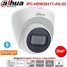 Dahua 8MP Starlight IPC-HDW2831T-AS-S2 IP Turret Camera H.265+ PoE Mic 2.8/3.6mm