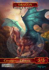 3x Dragon #7 Custom Altered Tokens MTG (for Dragonmaster Outcast)