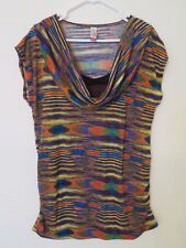 Women's No Boundaries Stretch Knit Thin Sweater Shirt Multi-Color Size XL 15-17