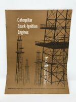 Vintage Caterpillar Brochure Spark-Ignition Engines Advertising Well Drilling