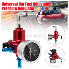 Universal Adjustable Car Fuel Pressure Regulator W/KPa Oil Gauge 0-16PSI Red