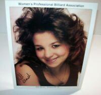Nikki Benish Women's Professional Billiard Signed Autograph Photo Pool Vintage