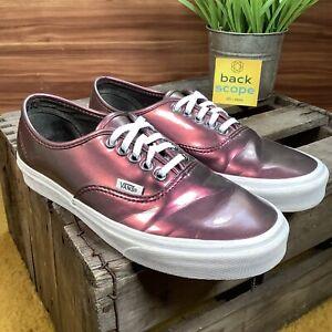 UK6 VANS Metallic Pink / White Old Skool Retro Skater Style Trainers - EU39