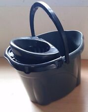 Plastic Mop Bucket with Removable Strainer and Handle 10 Litres Grey Cheap!