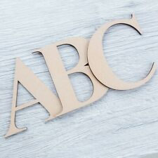 Georgia Bold Wooden Letters & Numbers 3.2mm Thick MDF Alphabet Letters & Numbers