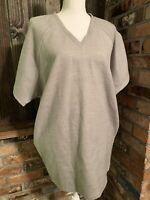 Revolve BLQ Basiq Womens boxy Gray dress With Pockets size 0 - polyester rayon