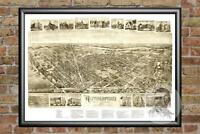Vintage Rutherford, NJ Map 1904 - Historic New Jersey Art - Victorian Industrial