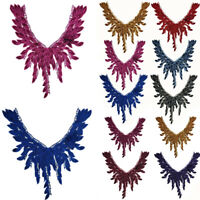 NE_ IG_ Flower Embroidery Neckline Collar Trim Sewing DIY Clothes Dress Applique