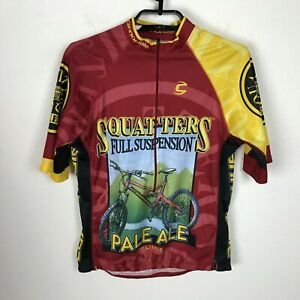Cannondale Cycling Jersey Biking Pullover Shirt Size S Squatters Pale Ale Red