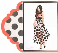 NIP Papyrus Lela Rose Blank Card $7.95 Polka Dot Skirt And Crop Top Birthday