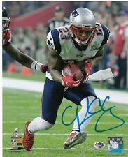 PATRICK CHUNG  NEW ENGLAND PATRIOTS   ACTION SIGNED 8x10