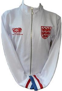 Retro Umbro England Rare Ramsey Style White Tracksuit Anthem Jacket Sized Medium