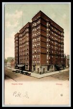 VIRGINIA HOTEL, CHICAGO, ILLINOIS, Horse and Buggys, Early Curt Teich UDB