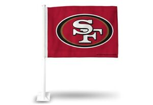 San Francisco 49ers 11X14 Window Mount 2-Sided Car Flag
