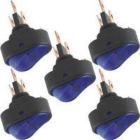 5Pack 12V 30Amp 30A Blue LED Light SPST OFF/ON Toggle Rocker Switch Car Sales